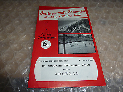 Bournemouth & Boscombe Athletic v Arsenal 26th October 1965 Dai Woodward