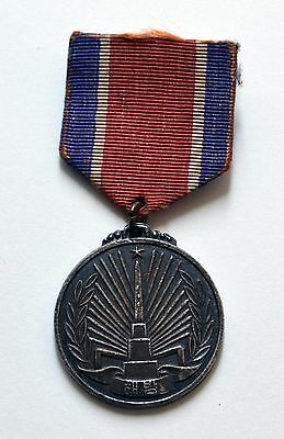 Original Soviet Silver Medal For Liberation Of Korea 1945 Wwii Ussr
