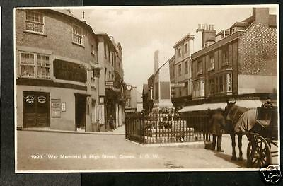 HLI Early Postcard, War Memorial, High Street, Cowes, Isle of Wight