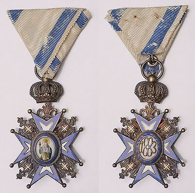 JA.14) YUGOSLAVIA / SERBIA Order of St. Sava / 4th Class / Huguenin / in case