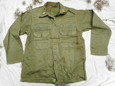 Genuine Original Us Army M51 M 51 1St Utility Shirt Og-107 Early Vietnam War
