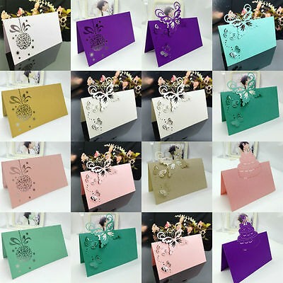 50PCS Creative Name Number Wedding Party Banquet Seat Table Place Cards Decor