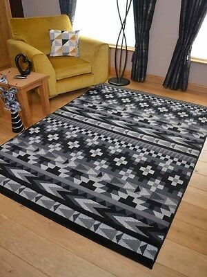 New Black Grey Aztec Small Extra Large Big Huge Size Floor Carpet Rugs Mat Cheap