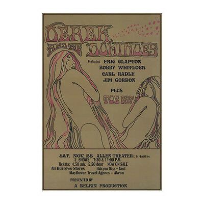 Derek And The Dominos 1970 Cleveland Concert Poster