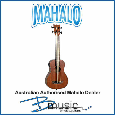 NEW Mahalo Fretless Electric/Acoustic Bass Ukulele -Complete with heavy duty bag