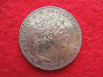 1818 L1X  George Iii Silver  Crown  Coin....very Good Grade................  308