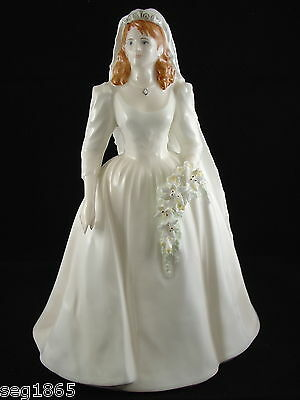 Coalport Ltd. Ed. Royal Bride Figurine - Sarah Duchess Of York  719 / 7500