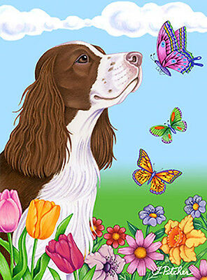 Large Indoor/Outdoor Butterfly (TP) Flag - English Springer Spaniel 98031