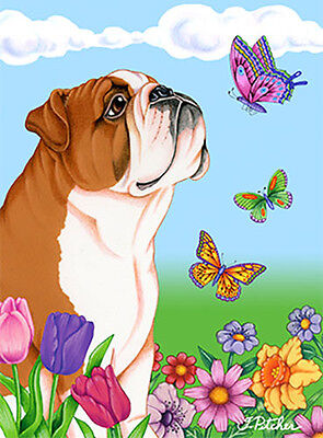 Large Indoor/Outdoor Butterfly (TP) Flag - English Bulldog 98025