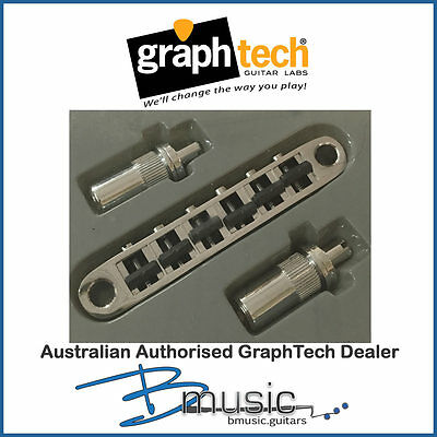 GraphTech ghost® ResoMax 6mm Post Bridge Assembly - Chrome - Acoustic and MIDI