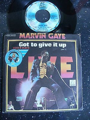 "Marvin Gaye:""got To Give It Up"".1977 Italian Tamla Motown+(Non-Uk)Picture Cover."