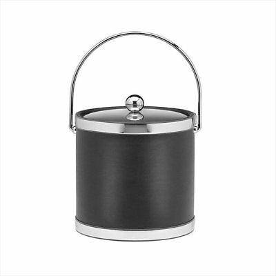 Kraftware Sophisticates 3 Qt Ice Bucket with Metal Cover in Black