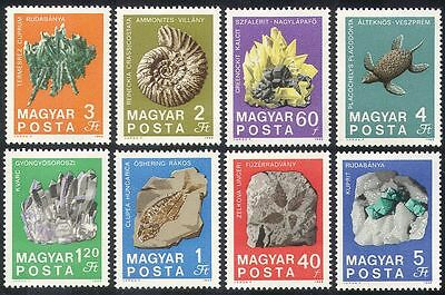 Hungary 1969 Minerals/Fossils/Geology/Rocks/Crystals/Turtle/Quartz 8v set n39948