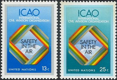 UN (NY) 1978 ICAO/Aviation Safety/Planes/Transport/Clouds 2v set (n18057p)
