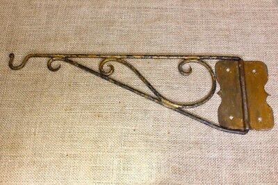 old Plant Hook Bird Cage hanger oil lantern lamp vintage rustic wrought iron 13""
