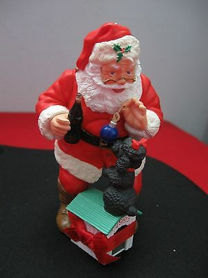 Coca-Cola Santa with dog house christmas ball 1993 Christmas Ornament decoration