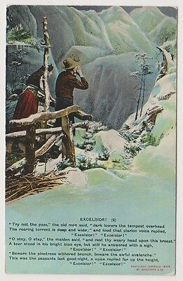 """Song Card postcard - """"Excelsior"""" by Bamforth - Card No. 4551 (2)"""