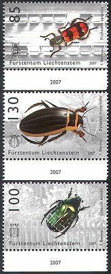 Liechtenstein 2007 Beetles/Chafer/Insects/Nature/Conservation 3v set (n36039)