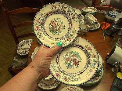 "Copeland Spode 6"" Chinese Rose Side / Tea Plates x 8 Old backstamp"