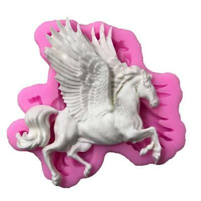 Flying Horse Silicone Cake Mould Fondant Sugar Craft Chocolate Decorate Tool Z