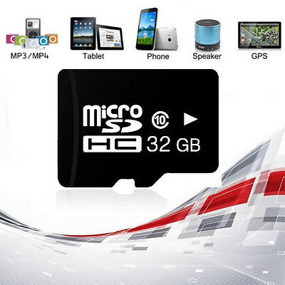 32GB Micro SD Class 10 TF Flash Memory Card for Cell Phone Mobile Tablet PC New