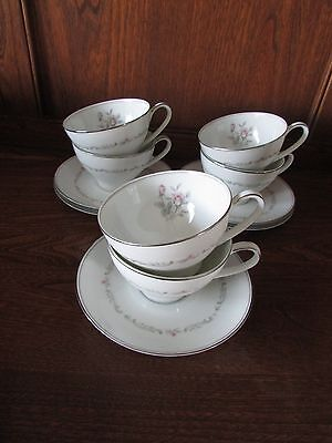 Vintage Noritake~Mayfair~ 12 piece Part Tea Set. 6XDuos Rose bud pattern.