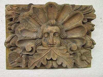 Antique Old Door Carved Panel #5-Mexican-Antique-Primitive-Vintage-16x22 in-Rare