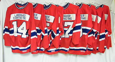 LOT OF 9 - PRINCE GEORGE OLD TIMERS HOCKEY JERSEY with BONUS JERSEY.