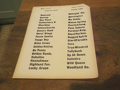18 x 1960S NEWTON ABBOT RACECOURSE  BOOKIES RACE POSTERS WITH HORSES NAMED