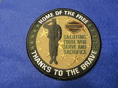 Harley Davidson Salutes Those Who Serve And Sacrifice Patch Military Usa Brave