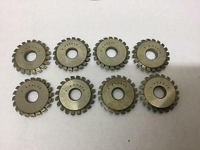 8 Consecutive Watchmakers Lathe Wheel & Pinion Cutters K4374/1,2,3,4,5,6,7&8