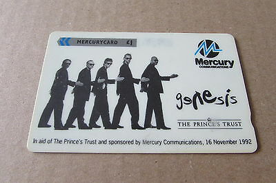 Genesis Phil Collins Mercury Phonecard Fm Uk  (Auc)