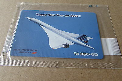 Air France Concorde Airline Mint Sealed Phonecard From Korea (Auc)