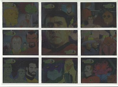 Star Trek  Animated Adventures  JAMES DOOHAN  Chase Cards JD1 - JD9  9 CARD SET