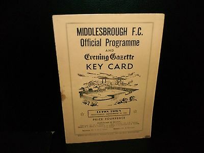 1961/1962  MIDDLESBROUGH     v.   LUTON  TOWN     DIV.  2