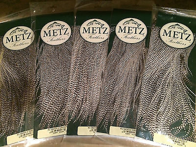 Metz - Grade #2 Grizzly Saddle Hackle ... Fly Tying Material