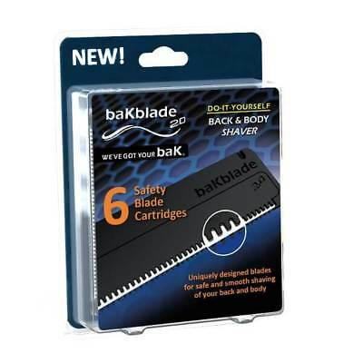 Bakblade 2.0 Mens DIY Easy to Use Back Hair Remover Replacement Blades 6 Pack