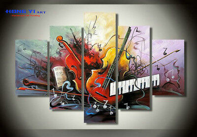 Large Framed Modern Art Wall Music Abstract OIL Painting Canvas Home Decor mus28