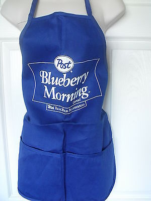 Rare Post Blueberry Cereal 2 Pocket Kitchen / Barbecue / Man Cave Apron
