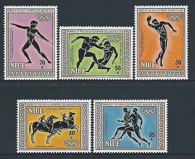 1984 Niue Olympic Games: Los Angeles Set Of 5 Fine Mint Muh/mnh