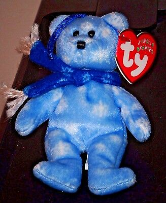 "Ty Jingle Beanie Baby ~ 1999 HOLIDAY TEDDY (5"") Bear ~ MWMT'S ~ Holiday Ornament"