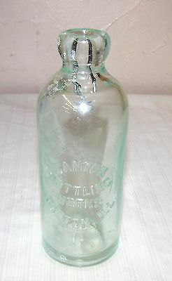 Canton, Il.--Blob Top Soda Bottle--Canton Bottling Works