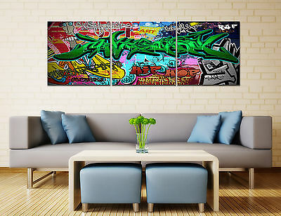 "16x16""3Parts Home Decor Art Printed on Canvas Graffit Hip Hop Wall 328(no frame)"