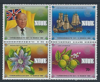 1983 Niue Commonwealth Day Block Of 4 Fine Mint Muh/mnh
