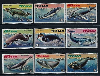 1983 Niue Whales Set Of 9 Fine Mint Muh/mnh