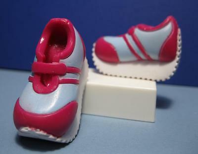 Barbie DOLL 2002 BEAT STREET Fashion Tennis SHOE-PINK/LIGHT BLUE CHUNKY Platform
