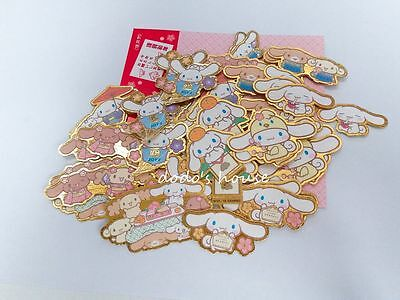 Sanrio Japan Cinnamoroll Stationery Gold Kimono Sticker Set 50pcs