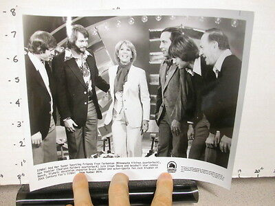DINAH SHORE TV show photo 1970s Bruce Jenner Johnny Bench Ken Stabler Tarkenton