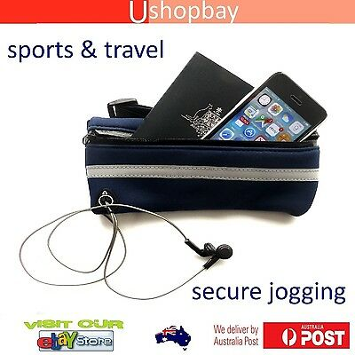 Travel & Sports Jogging Hiking iPhone Pouch Security  Valuables, Waist Belt Bag