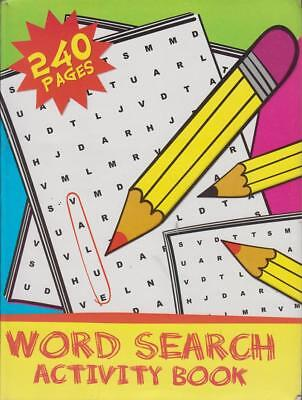 A4 Large Print Spaced Jumbo Word Search Activity Book Travel Bordom 240 Pages